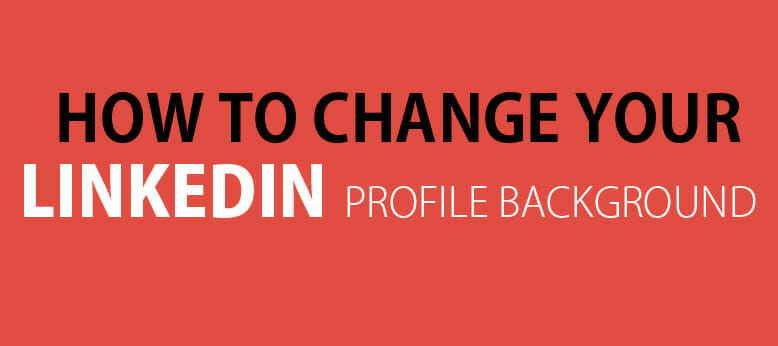 Change LinkedIn background image